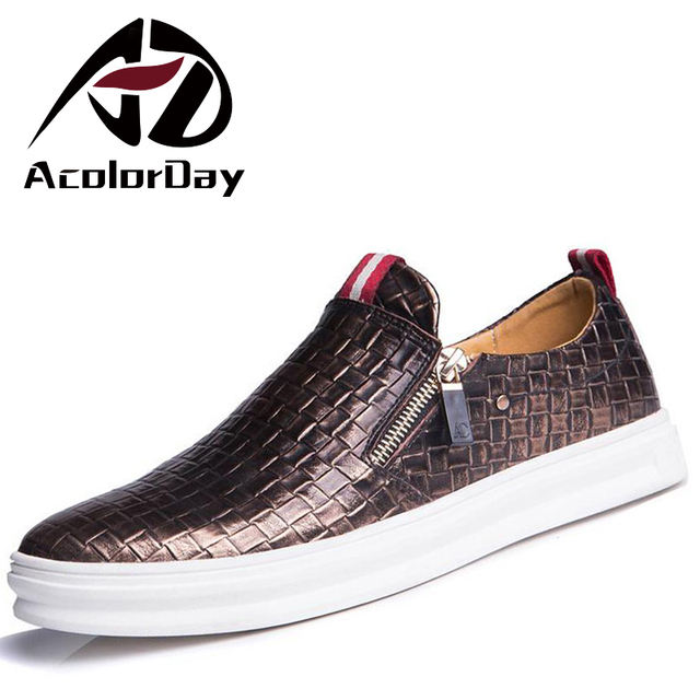 Big Size 47 Fashion Breathable Retro Men Shoes Luxury Brand 2016 Genuine Leather Men Casual Shoes Loafers Student Platform Shoes