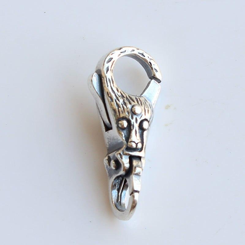 Serrure d'arbre Troll 925 fermoirs en argent Sterling pour Bracelet de perles de breloques à assembler soi-même