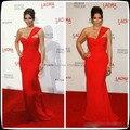 De un solo hombro de Novia de Kim Kardashian Largo Prom Vestidos de Noche Georges Hobeika Palabra de Longitud Gasa Roja Vestidos de La Celebridad