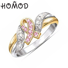 HOMOD 2019 New Fashion Rings Show Elegant Temperament Jewelry Womens Girls White Silver Filled Wedding Ring