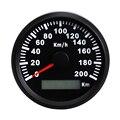 Автомобильный цифровой GPS измеритель скорости 200 км/ч с подсветкой  красный светодиодный датчик скорости для Honda  BMW  мотоцикла  автомобиля  л...