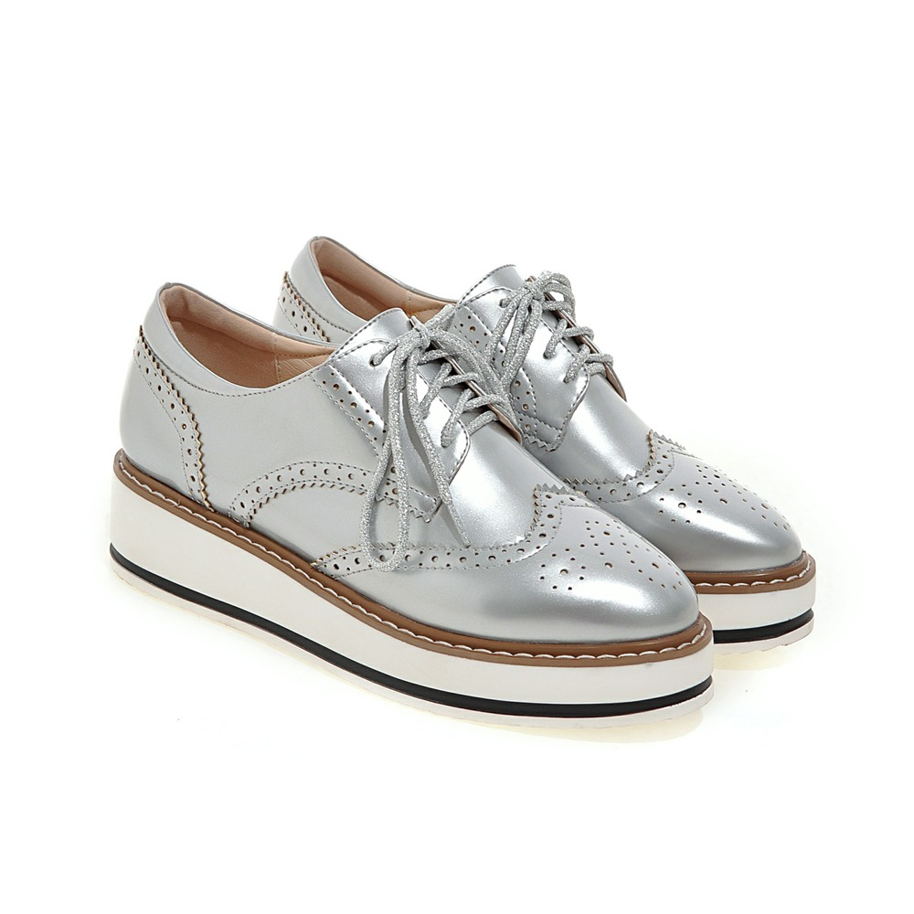 Hot Sale Stars Womens Flats Round Toe Patent Leather ...
