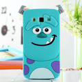 2015 Newest 3D Cute Cartoon Sulley design Soft Silicone Case Mobile Phone Bags for Samsung Galaxy A3 A5 A7 A3000 A5000 A7000