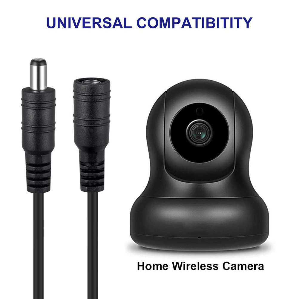 1/2/3/5/10M Male To Female Plug CCTV DC Power Cable Extension Cord Adapter Cords 5.5mmx2.1mm For Camera Power Extension Cords