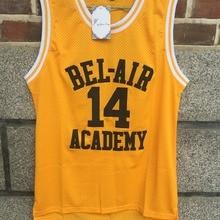 Баскетбольная Футболка Fresh Prince желтая Bel-Air Academy 14 Will Smith 25 Carlton Banks сшитая зеленая черная