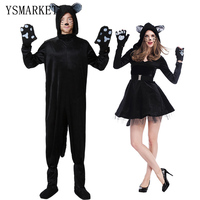 2017 Adult Woman Couples Costumes New Sexy Plus Size Catwoman Cosplay Cat Costumes Fancy Dress Loose Mens Party Jumpsuit H9289