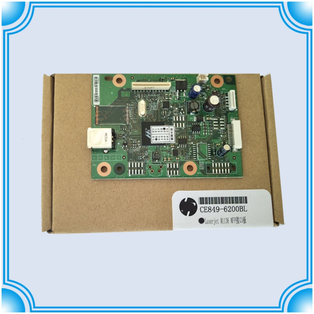 new Original CE831-60001 for hp M1136 M1136mfp M1132 M1132mfp 1132mfp Formatter Board logic Main Board MainBoard mother board new ce831 60001 fit for laserjet pro m1130 1132 1136 mfp formatter board formatter board free shipping