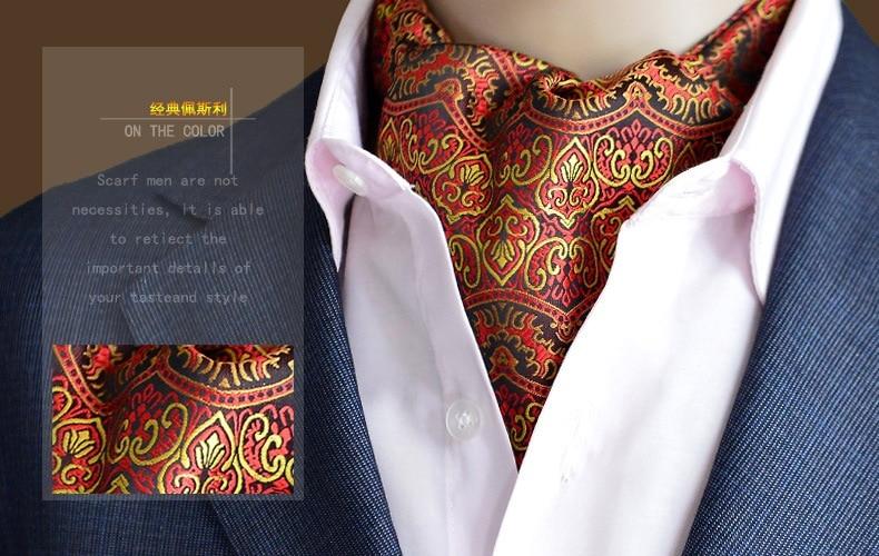 Bandana Bufandas გთავაზობთ ნამდვილ მოზარდს ინდოეთიდან ზამთრის შარფი, დე ლის, ორმაგი სახე აბრეშუმის მამაკაცი Cravat Polka Dot Suit Fashion Shirt