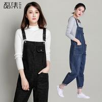 Women Denim Jumpsuits For Women Casual Sexy High Waist Plus Size Loose Pockets Jeans Overall Playsuit