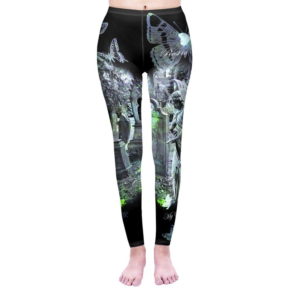 Fashion Women Legging Magic Cats Printing Leggins  Punk Leggings Workou Legins Slim Fitness Pants