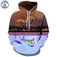 Mr.1991inc новые Стиль творчества пожарных лошадь печати Повседневное кофты Для мужчин/wo Для мужчин Толстовка Горячая капюшоном Пуловеры для же