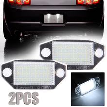 2pcs Car License Lamp 6000K White 12V 24LED Number Plate Light For Ford Mondeo MK3 2000-2007