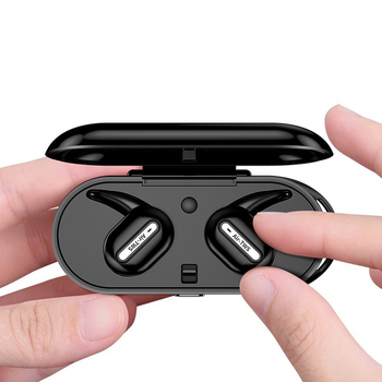 Mini Bluetooth Earphone Invisible In-Ear Sports Wireless Headphone with Charging Base QF66
