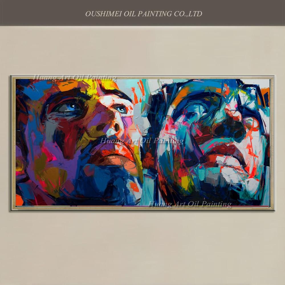 Nové ručně malované moderní abstraktní nůž portrét na plátně zdi umění domácí výzdoba olejomalba nástěnná malba obrázek Podívejte se na charakter Sky