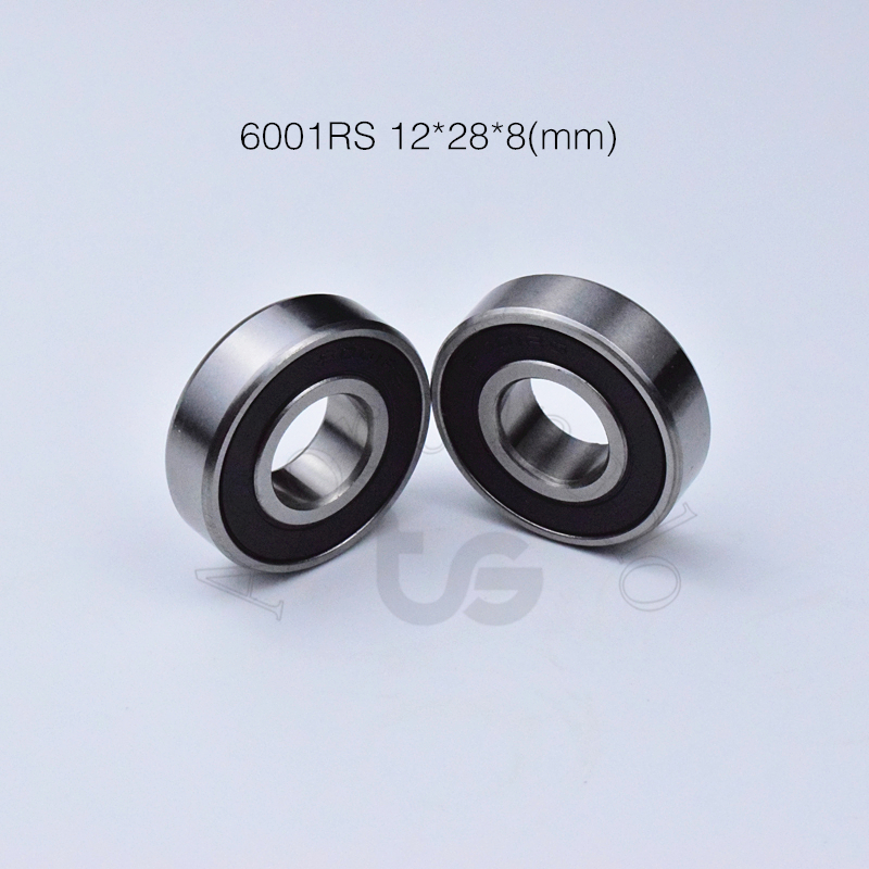 6001RS 12*28*8(mm) 1Pieces Bearing ABEC-5 6001 6001RS Rubber  Sealed Chrome Steel Deep Groove Bearing