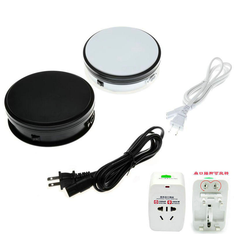 HQ 15X6CM Merchandise Display Base 360 Degree Electric Rotating Turntable for Photography Automatic Revolving Platform 4 Speeds