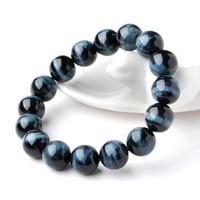 Blue Tiger Eye Stone Bracelet Men and Women Tiger Stone Stone Change Single Beads Beads Bracelets Crystal Jewelry