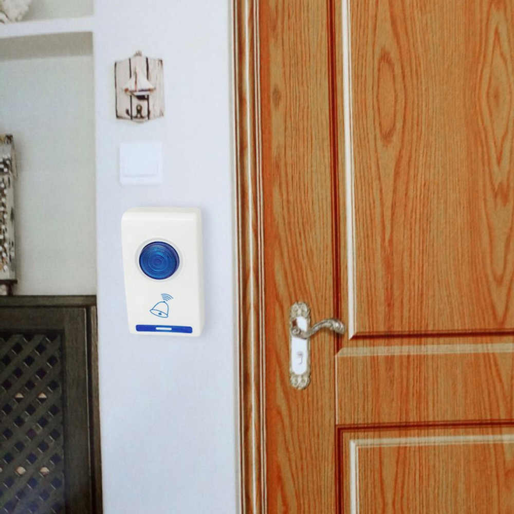 504D LED Wireless Chime Door Bell Doorbell & Wireles Remote control 32 Tune Songs White Home Security Use Smart Door Bell