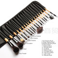 18pcs Professional Makeup Brushes Set Brushes in Black Leather-Like Ties Case Makeup Brushes & Tools, Big Deal