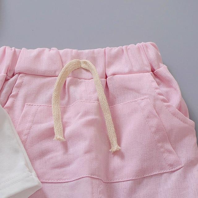Newborn baby boys smile clothes sets t-shirt +shorts 2pcs 5