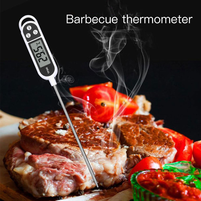 Anpro Electronic Food Thermometer Cooking Food BBQ Probe Thermometer Milk Measurement Oven Barbecue Meat LCD Digital Thermometer