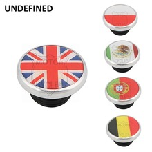 Chrome Polish Motorcycle Fuel Tank Cap Gas Cover England Mexico Flag Custom For Harley Sportster XL 1200 883 Road King 1996-2018 aluminum gold motorcycle fuel gas tank oil cap for harley sportster 1200 883 1996 up