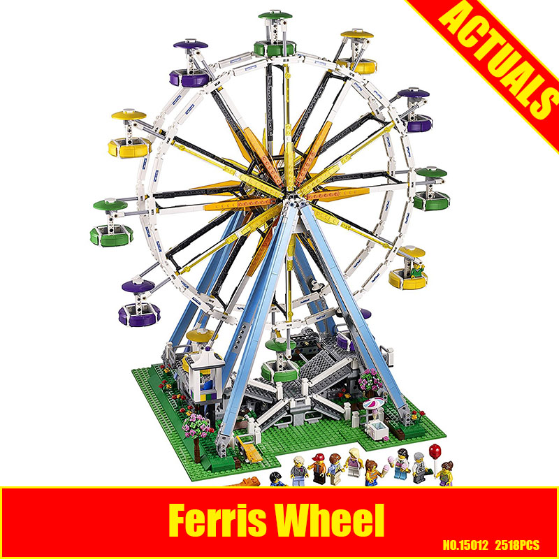 LEPIN 15012 2478Pcs City Expert Ferris Wheel Model Building Kits Block Bricks Compatible Toy 10247 DIY Educational Children Gift lepin 15012 2478pcs city series expert ferris wheel model building kits blocks bricks lepins toy gift clone 10247