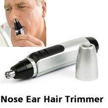 Портативный электрический триммер для волос в носу, машинка для стрижки носа на батарейках, бритва для удаления волос в ушах, уход за лицом, бритва для мужчин