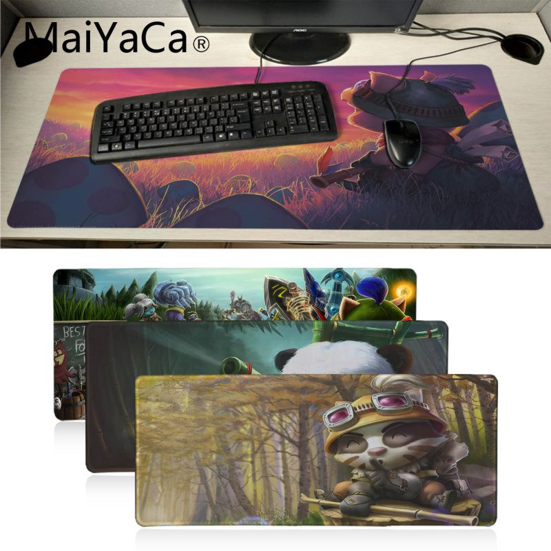 Sianca 80x30cm Lol Mouse Pad Huge Grande Large Mousepads Gamer Gaming Mouse Pads Keyboard Mat For Net Bars Legends Riven Teemo Computer & Office Mouse & Keyboards
