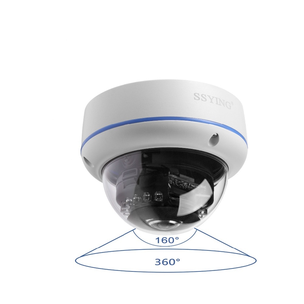 Hd 1200tvl Cctv Wired Dome Panoramic Camera 360 Analog