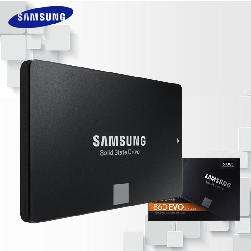 SAMSUNG SSD 860 EVO 250GB 500GB Internal Solid State Disk HD Hard Drive SATA3 2.5 for Laptop Desktop PC 250 GB 500 GB MZ-76E250B samsung 860 evo internal ssd 250gb 500gb solid state disk hd hard drive sata3 2 5 for laptop desktop pc 250 gb 500 gb mz 76e250b