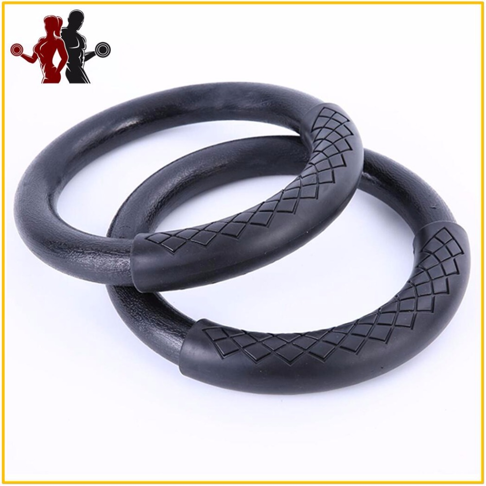 2 pcs High Quality Heavy Duty ABS Plastic 28mm Exercise Fitness Gymnastic Rings with Foam Handle Gym Exercise Crossfit Pull Ups