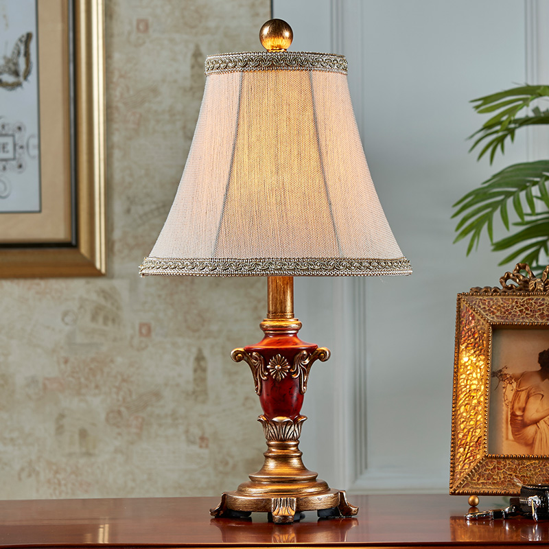 American small lamp bedroom bedside lamp warm Vintage Wedding study ...
