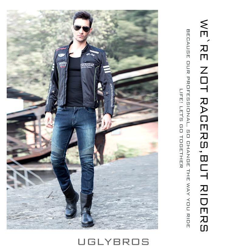 клуб-к uglyBROS 2 в UB03 кевлар мотоцикл брюки пожаробезопасная ткань езда брюки мужчины свободного покроя брюки весна протектор
