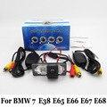 HD Wide Lens Angle Cameras For BMW 7 E38 E65 E66 E67 E68 / RCA Wire Or Wireless / Water Proof CCD Night Vision Rear View Camera
