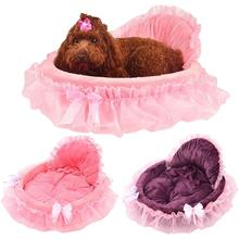 New Luxury Lace Pet Bed To Improve Sleep Comfortable Princess Cat Kitty Sofa Warm Dog Mattress Beautiful Circular