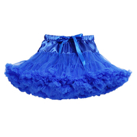 2017 NEW Baby Girls Chiffon Fluffy Tutu Princess Party Skirts Ballet Dance Wear Royal Blue