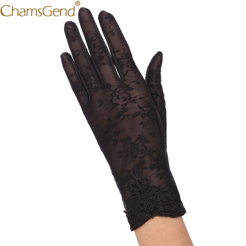 CHAMSGEND 2017 Fashion,beautiful,Womens Summer UV-Proof Driving Gloves Gloves Lace Gloves,May24