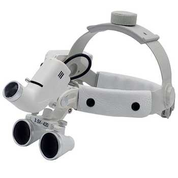 3.5X Surgical Loupes Helmet Magnifier Dental Loupe Surgeon Operation Medical Enlarger Clinical Surgical Magnifier with LED Light - DISCOUNT ITEM  19% OFF All Category