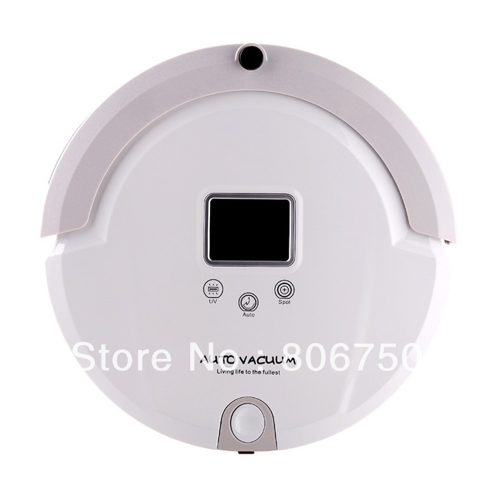 Free Shipping/2012 New Arriving 4 In 1 Multifunctional AutoVacuum Cleaner (Vacuum,Mop,Sterilize),LCD,Schedule,Virtual Wall