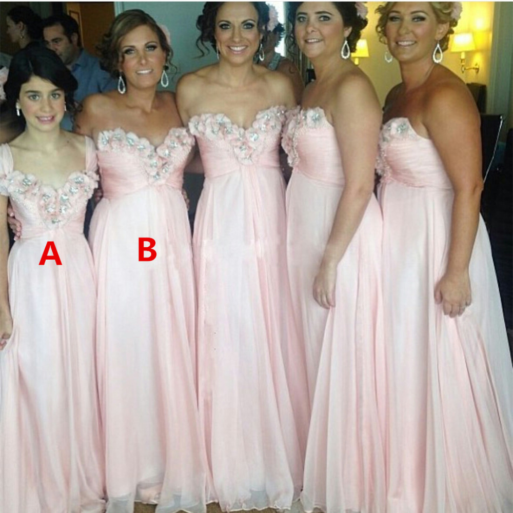 Aliexpress buy lovely pink bridesmaid dresses with chic aliexpress buy lovely pink bridesmaid dresses with chic appliques 2017 fast shipping women wedding party dress vestido de madrinha cheap from reliable ombrellifo Images