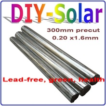 1.6×0.20mm Leady Solar Tab Wires, Precut Tabbing Wire, Any Size is Fine, Suitable for 125 or 156mm Solar Panel, Precut PV Ribbon