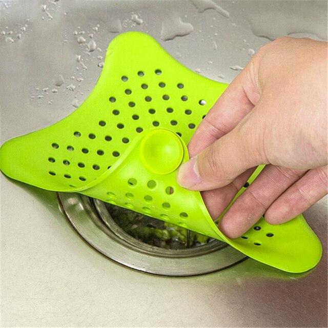 Kreatywna kuchnia kanalizacji zlew filtr kanalizacja wyloty sitka do włosów łazienka korek Catcher narzędzie do czyszczenia akcesoria do zlewozmywaków