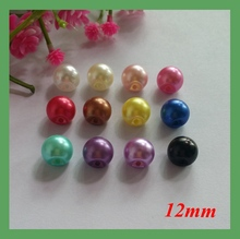 Kunt 12 kleur Parel Knop 12mm side gat naaien knoppen 100 stks kleding decoratieve knoppen kleding naaien accessoires