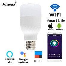 E27 ампул Светодиодная лампа WiFi лампа 9 Вт подключение смарт жизни умная лампа alexa google assistant для дома дропшиппинг Joneaz
