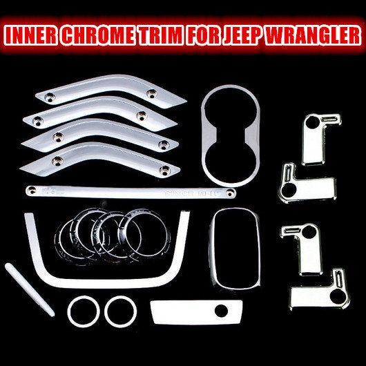 Inner Chrome Stickers for Jeep Wrangler JK Chromed...