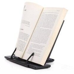 Suporte de mesa portátil da leitura do quadro do livro de aço com 7 ranhuras ajustáveis da inclinação, ipad/livro de receitas/música/suporte do documento