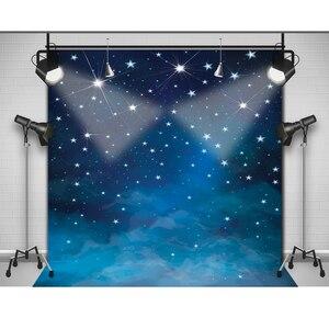 Image 4 - Allenjoy sfondo fotografico Spazio blu stelle brillano foto fondali per la vendita photography fantasia tessuto del vinile photocall