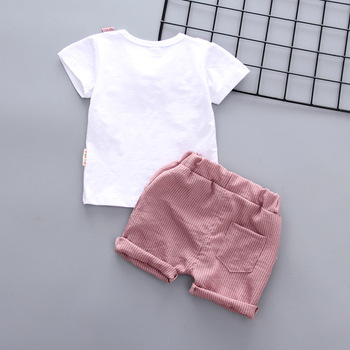Newborn Summer baby boys clothes set new style t-shirt + shorts 2pcs newborn boy gentleman clothing set 2