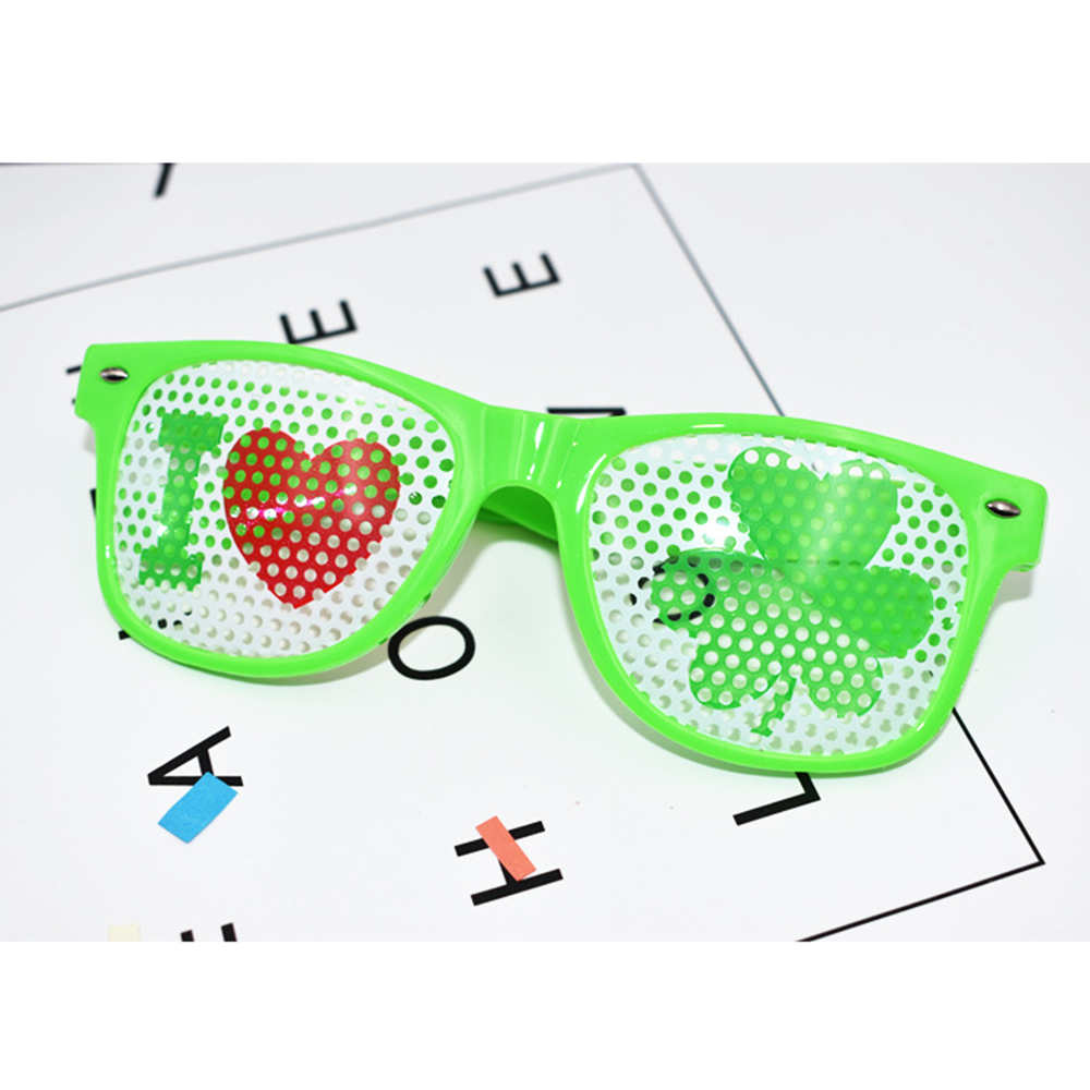 Reasonable Funny Shamrock Design Sunglasses Creative Holiday Cosplay Costume Glasses Accessory Men's Eyewear Frames